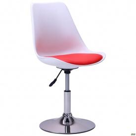 Барний стілець Aster chrome біло-червоний