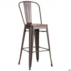 Высокий барный стул AMF Ozzy металлический 1180х490х530 мм кофе