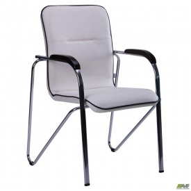 Офисный стул АМФ Самба Неаполь N-50 с кантом корпус хром 570x680x885 мм