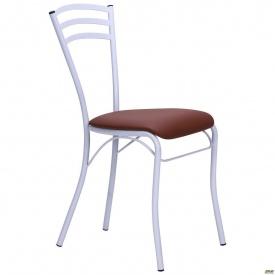 Металлический стул AMF Кармен 840х420х520 мм белый лак Неаполь N-04
