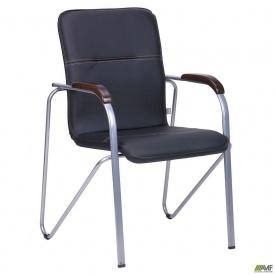 Офісний стілець АМФ Самба 890х610х560 мм кожзам Неаполь N-20 каркас алюм