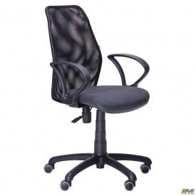 Копьютерное кресло AMF Oxi-4 870-1000х560х610 мм мягкое сиденье черное спинка сетка
