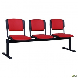 Секционные стулья AMF Призма-3 Неаполь N-36 1790х810х600 мм красный