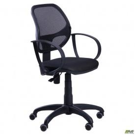Офисное кресло АМФ Бит-8 100-870х580х550 ммСетка черный