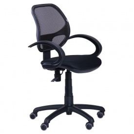 Компьютерное кресло Байт/АМФ-5 1000-870х450х550 мм сетка черное