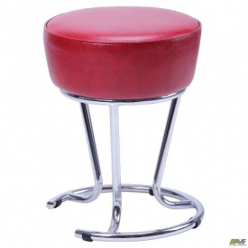 Табурет-стілець АМФ Черрі хром Лаки 385x385x480 мм червоний