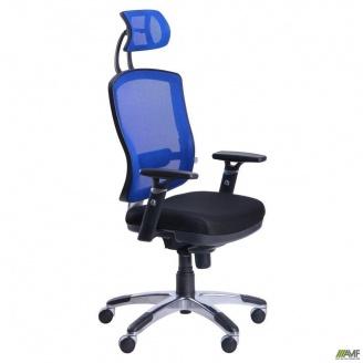 Кресло AMF Коннект HR сетка 710x710x1400 мм синий
