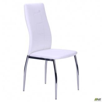 Металевий стілець АМФ Ніколас 1000х440х530 мм хром - кожзам білий