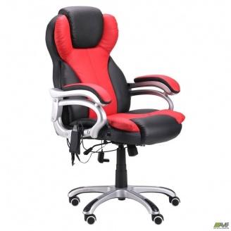 Офисное кресло массажное AMF Малибу KD-DO8074 красное-черное