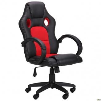 Компьютерное кресло AMF Chase 1030-1120х600х610 мм кожзаменитель черно-красный для геймера