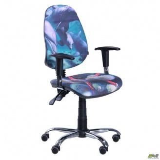 Кресло AMF Бридж каркас хром Дизайн №5 Дельфины 650x650x1090 мм