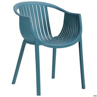 Кресло пластиковое АМФ Crocus PL 770х540х610 мм темно бирюзовый