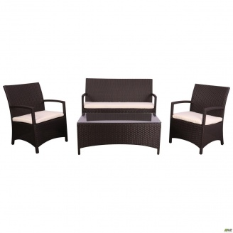 Комплект мебели AMF Bavaro из ротанга Elit Brown MB1034 ткань A13815