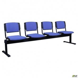 Секционные стулья AMF Призма-4 А-84 2390х810х600 мм синие