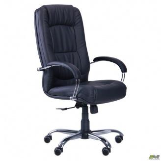 Офисное кресло АМФ Марсель 1160-1090х610х680 мм черное хром ANYFIX