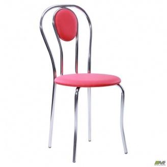 Кухонній стул AMF Луиза 890х400х500 мм хром красный
