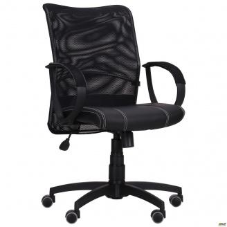Офисное кресло AMF Лайт Net-LB 880-950х570х650 мм спинка сетка черный