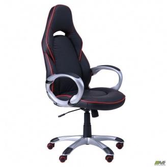 Компьютерное кресло АМФ Страйк CX 0496H Y10-01 черный кант красный