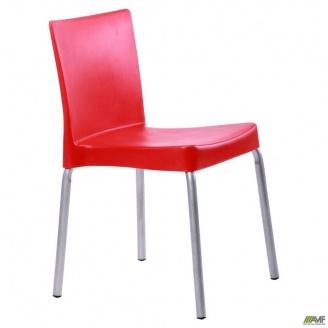 Пластиковый стул AMF Корсика алюм 470x550x760 мм красный