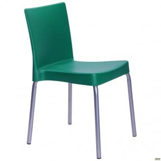 Пластиковий стілець AMF Корсика алюм 470x550x760 мм зелений