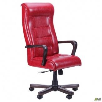 Кресло Роял Флеш Механизм ANYFIX орех лаки 630x710x1220 мм красный