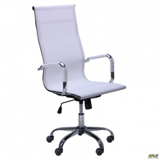 Офісне крісло AMF Slim Net-HB-XH-633 - Solano artleather white білий