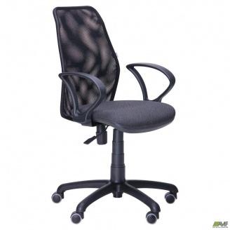 Кресло AMF Oxi-4 870-1000х560х610 мм сиденье Квадро-02 спинка сетка черный
