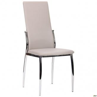 Мягкий стул АМФ Картер 990х440х570 мм каркас хром кожзам светлый