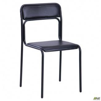 Офісний стілець AMF Аскона кожзам 440x470x810 мм чорний