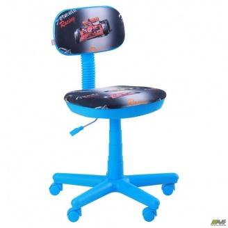 Кресло AMF Свити Машинки 650x650x920 мм голубой