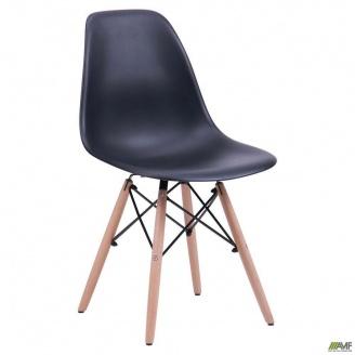 Пластиковый стул AMF Aster PL Wood 840х490х530 мм черный