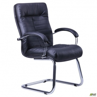 Кресло Орион CF хром Кожа Сплит 630x720x1030 мм черный
