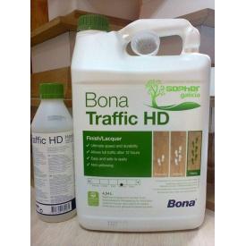 Лак для паркета Bona Traffic HD двухкомпонентный 4,95 л