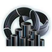 Труба полиэтиленовая водопроводная Полипласт ПЭ SDR 21 90х4,3 мм 100 м