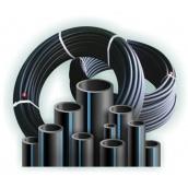 Труба полиэтиленовая водопроводная Полипласт ПЭ SDR 21 75х3,6 мм 100 м