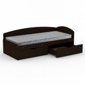 Ліжко Компаніт 90+2С ДСП 2042х944х700 мм темний венге