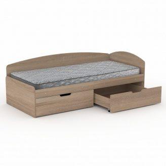 Односпальная кровать Компанит 90+2С ДСП 2042х944х700 мм дуб сонома