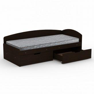 Кровать Компанит 90+2С ДСП 2042х944х700 мм темный венге