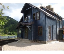 Проект дома из клееного бруса 200 мм 120 м2