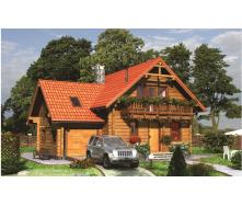 Будівництво будинку з клеєного бруса 200 мм 125 м2