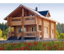 Будівництво будинку з оцилиндрованного бруса 200 мм 132 м2