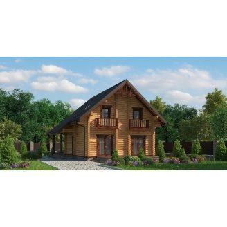 Строительство дома из оцилиндрованного бруса 200 мм 125 м2