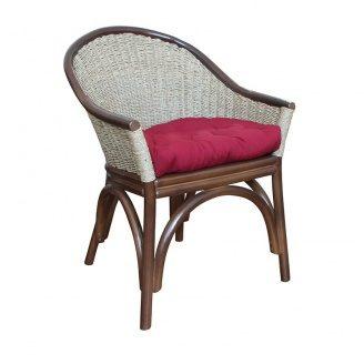 Плетенное кресло Каролина ЧФЛИ из ротанга с подушкой 580х600х830 мм