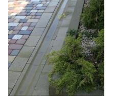 Отлив Золотой Мандарин 500х200х60 мм на сером цементе горчичный
