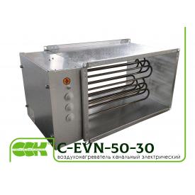 Нагреватель воздуха электрический канальный C-EVN-50-30-12