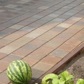 Поребрик Золотой Мандарин 500х200х60 мм на сером цементе персиковый
