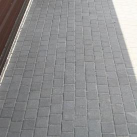 Тротуарна плитка Золотий Мандарин Квадрат малий 100х100х60 мм сірий