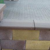 Крышка для парапета Золотой Мандарин 500х260х60 мм коричневый