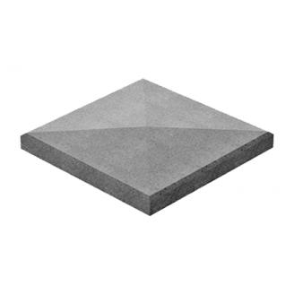 Крышка для столбика Золотой Мандарин 480х480х80 мм серый