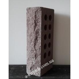 Облицовочный кирпич LAND BRICK скала пустотелый коричневый 250х100х65 мм
